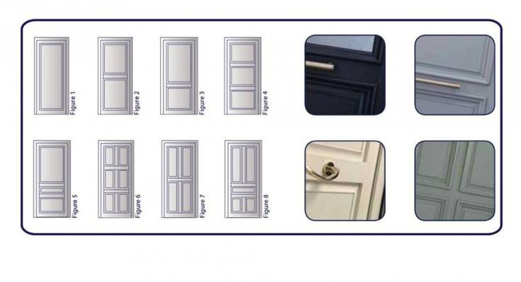 PORTE D'ENTREE EN PVC AVEC PANNEAUX A RELIEFS TYPE FACETTE Portes Vente de fenêtre, porte, volet La Garde Var - Premium - Premium