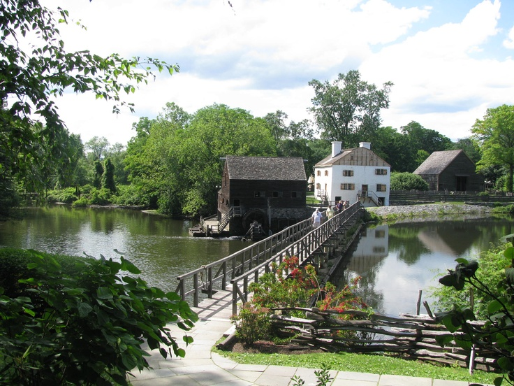 Bridge to Phillipsburg Manor.  The manor and grist mill was built by Frederick Philipse and is now a living history museum of Sleepy Hollow's agrarian past. Sleepy Hollow is a small village in the town of Mount Pleasant in Westchester, County, New York.