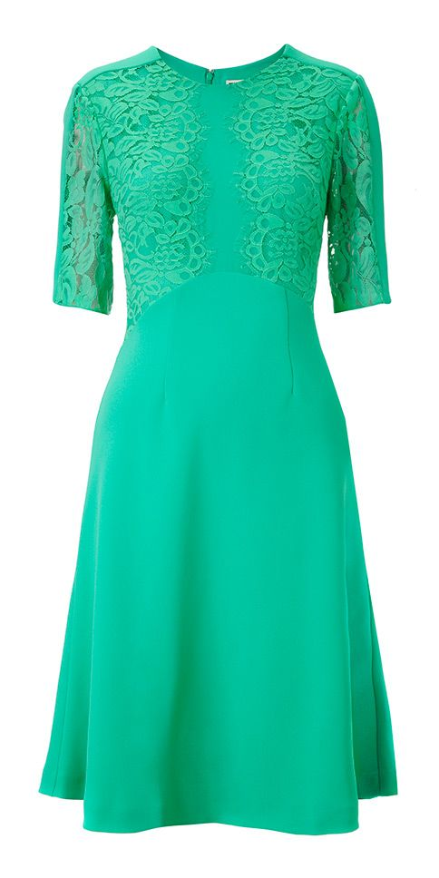 Green wedding guest dress I think this would look great on Karrie.