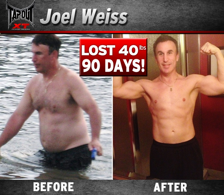 Joel lost 40lbs in 90 days with TapouT XT
