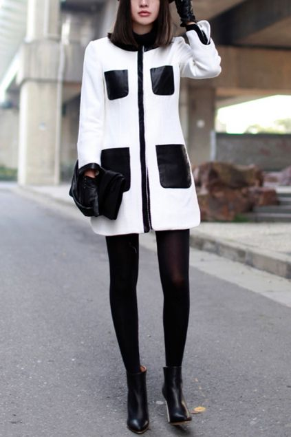 51 best * BLACK AND WHITE COATS * images on Pinterest | Black and ...