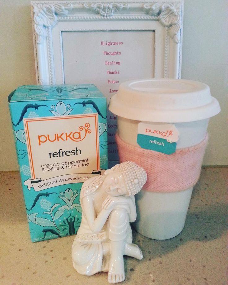 Tea Time! Pukka REFRESH organic peppermint licorice and fennel tea. Enjoy! This
