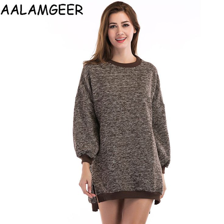 AALAMGEER Fashion Sweater Women Causal Autumn O-neck Tops Long Sleeve Pullover Sueter Mujer Invierno 17 Hot Sale Solid Sweater