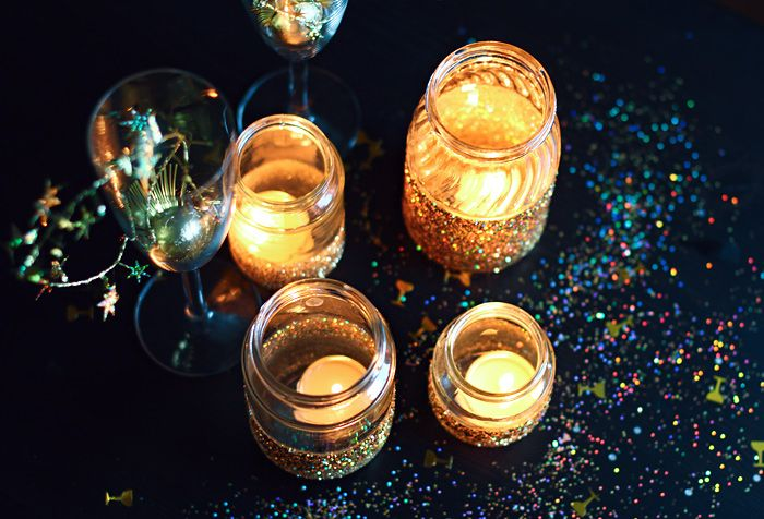 diy project glitter decoration