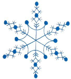 """snowflakes ~ several from bunnycup Wouldn't this be cute with teeny buttons for the """"snow drops""""?"""