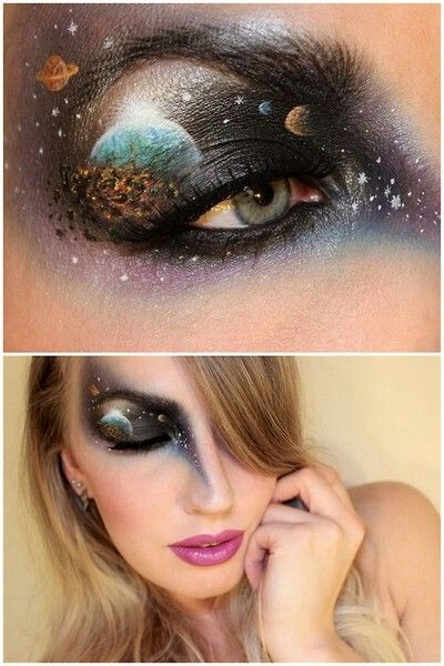 Space makeup- WHAATT! omg so cool