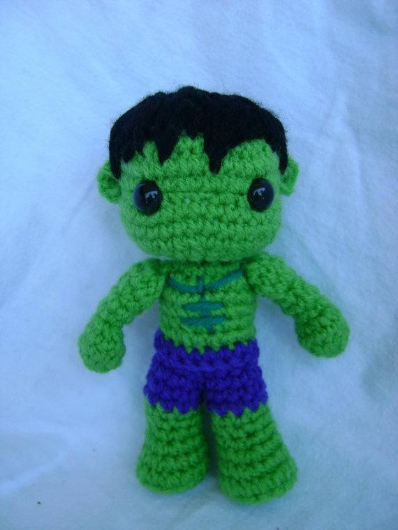 The Hulk Crochet doll
