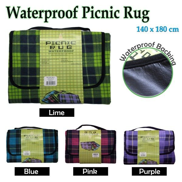 Enjoy the fresh, cheerful look of this Waterproof Picnic Rug by Kingdom.