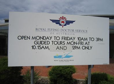 Royal Flying Doctor Service Visitor Centre - Kalgoorlie Boulder airport, the Royal Flying Doctor Service of Kalgoorlie is both a Visitor Centre and working base. Each year it provides approximately 6,500 visitors to the Goldfields with an extraordinary insight into the work of one of Australia's truly legendary organisations