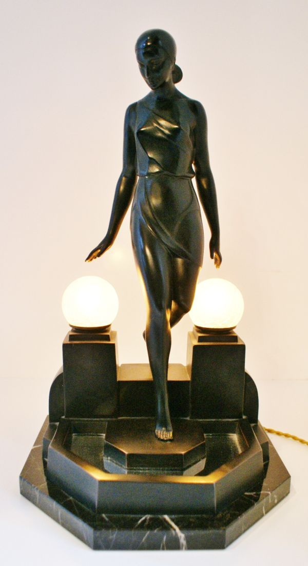 art deco #sculpture #lamp