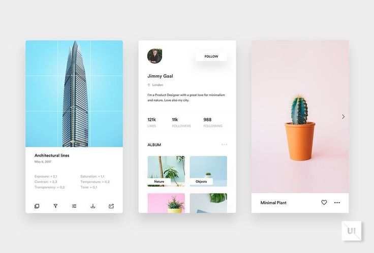 887 отметок «Нравится», 14 комментариев — UI Inspirations (@ui.inspirations) в Instagram: «What do you think of this photo editor app design? Tag a fellow designer who would love it. Design…»