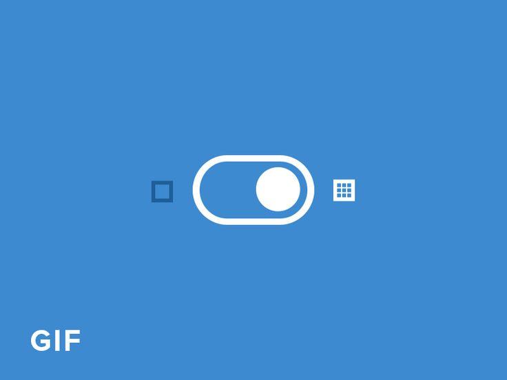 Photoshop Pixel Snapping Switch UI Animated Gif