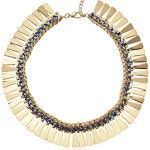 Steve Madden Color War Thread-Wrapped Gold-Tone Collar Necklace 19″ + 3.5″ Extender