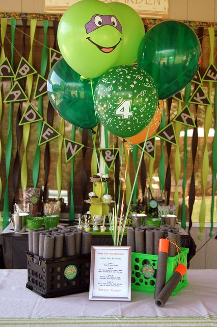"Photo 23 of 50: Teenage Mutant Ninja Turtles / Birthday ""Go Ninja Go Ninja Go - A Joint Birthday Party""   Catch My Party"