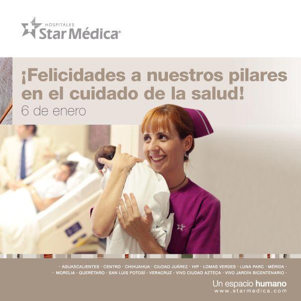 Día de la Enfermera y Enfermero en México. Reconocemos la gran labor que desempeña nuestro equipo de enfermería, pilar en el cuidado de la salud de miles de pacientes en México; ¡Muchas felicidades en su día!