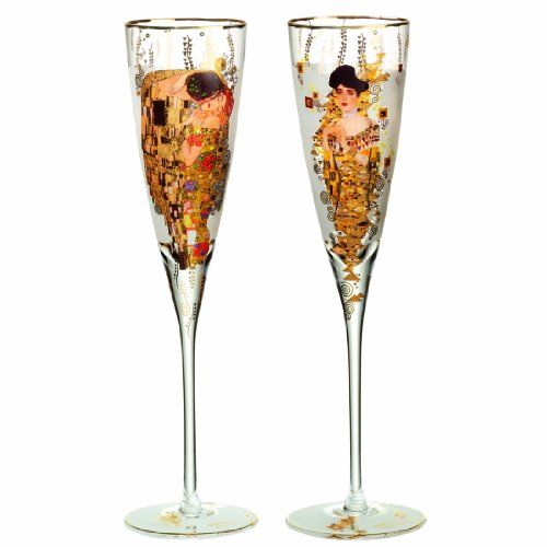 Goebel 66926650 Set of Champagne Flutes Gustav Klimt 150 Years Buy this and much more home & living products at http://www.woonio.co.uk/p/goebel-66926650-set-of-champagne-flutes-gustav-klimt-150-years/