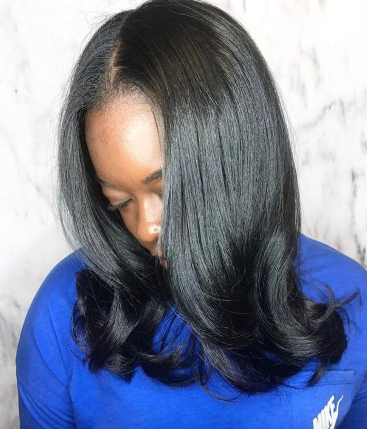 Beautiful silk press by @thehairkitchen_ - https://blackhairinformation.com/hairstyle-gallery/beautiful-silk-press-thehairkitchen_/