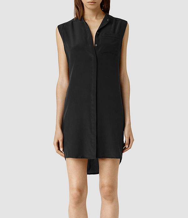 Women's Luna Shirt Dress (Black) -