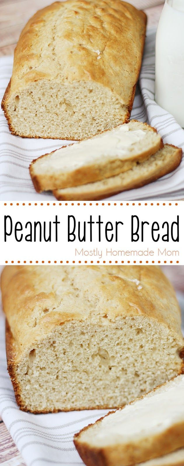 Peanut Butter Bread - perfect for a quick breakfast or brunch! I love one-bowl recipes like this!