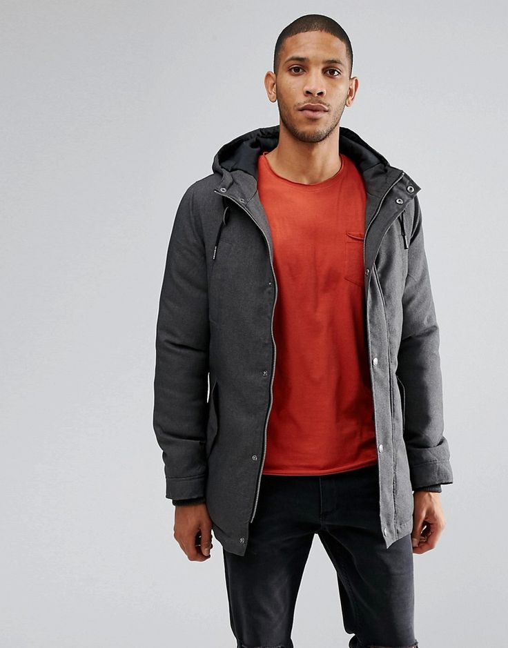 Get this Threadbare's parka now! Click for more details. Worldwide  shipping. Thereadbare Hooded Parka - Grey: Coat by Threadbare, Woven  fabric, ...