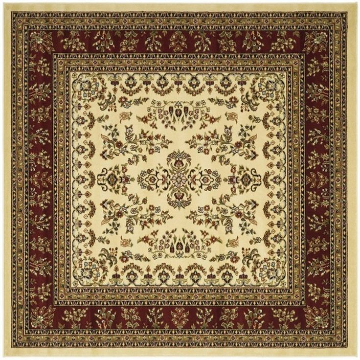 ivoryred powerloomed lyndhurst area rug 8u0027 square