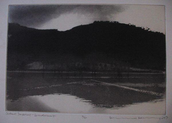 CARTMEL DAYBREAK, WINDERMERE Norman Ackroyd CBE RA Etching 2007 Edition Size: 90 Unframed print Size: 21 x 30.5cm
