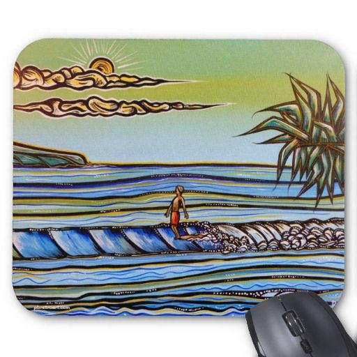 Hang Ten on Crescent Mousepad