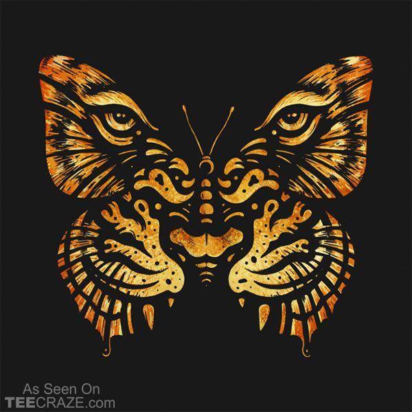 Tarnungs-T – Shirt #TeeCraze #Tiger #Camouflage #Butterfly #Art