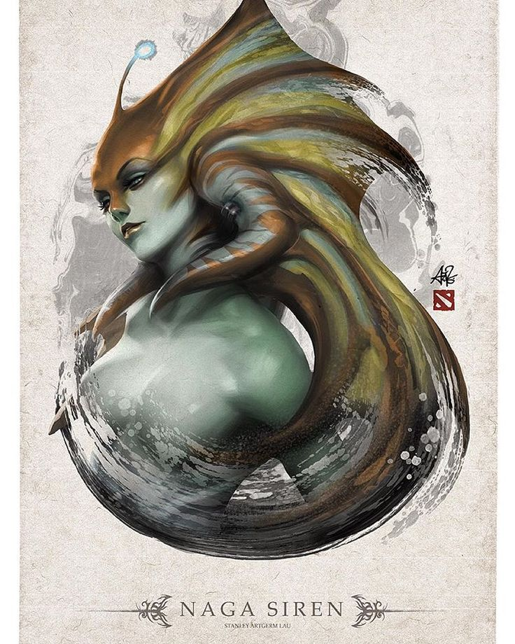 """Naga Siren completed. Will be adding new her to the DOTA store soon. ;) #nagasiren #dota2"""