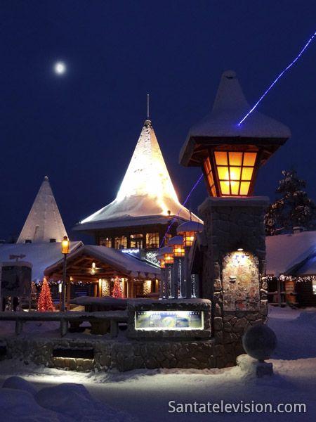 Santa Claus Village and Arctic Circle line in Rovaniemi in Finnish Lapland