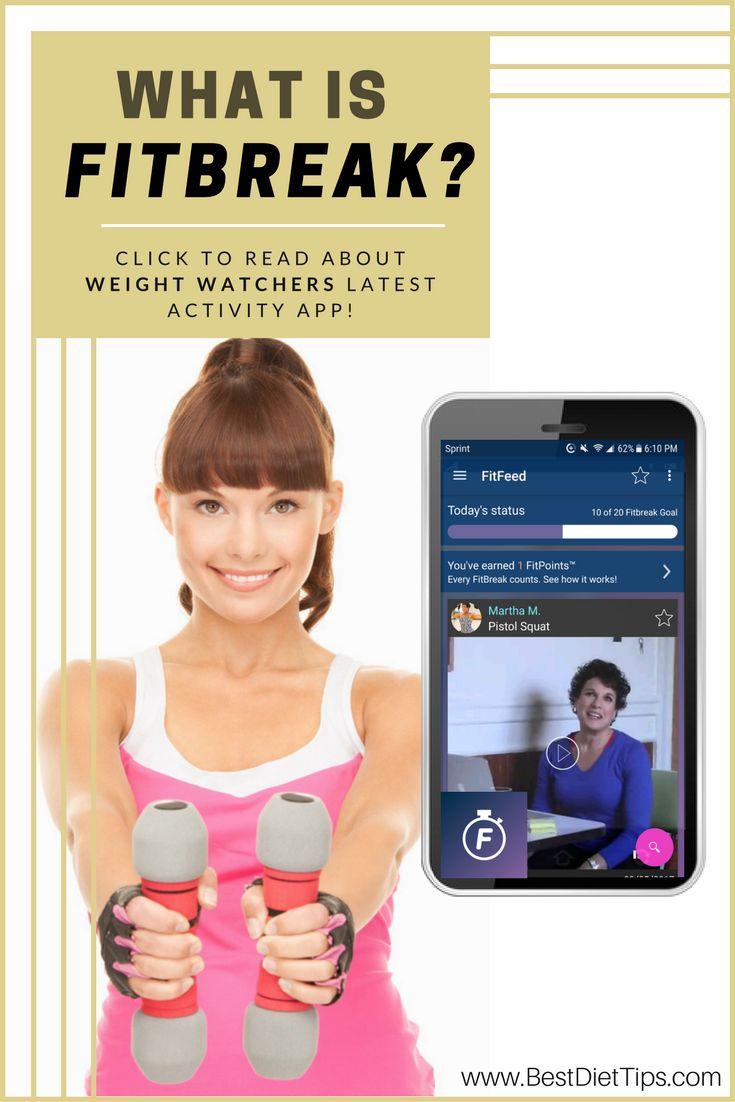 FitBreak - Weight Watchers Activity App Helps Lure Couch Potatoes to Their Feet! #weightwatchers #fitbreak #fitbreakapp #phoneapp #weightloss #diet #diettransformation #fitness #exercise #exerciseathome #bestdiettips www.bestdiettips.com