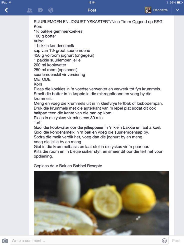 Suurlemoen en Joghurt Yskas Tert