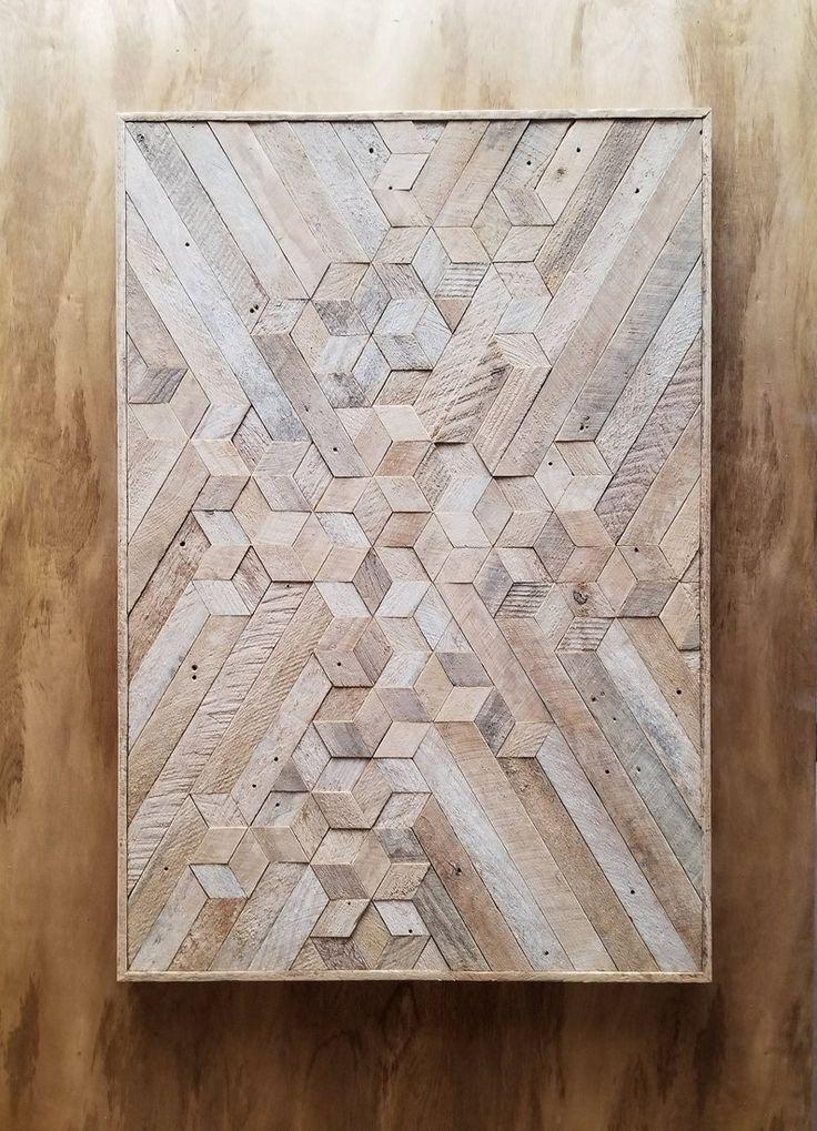 Zurückgefordert Holz Wandkunst   Holz Wandkunst   Holzdekor   Geometrische Holzkunst   Neutrale Kunst   Rustikale Holzkunst   Moderne Wandkunst   Große Holzkunst
