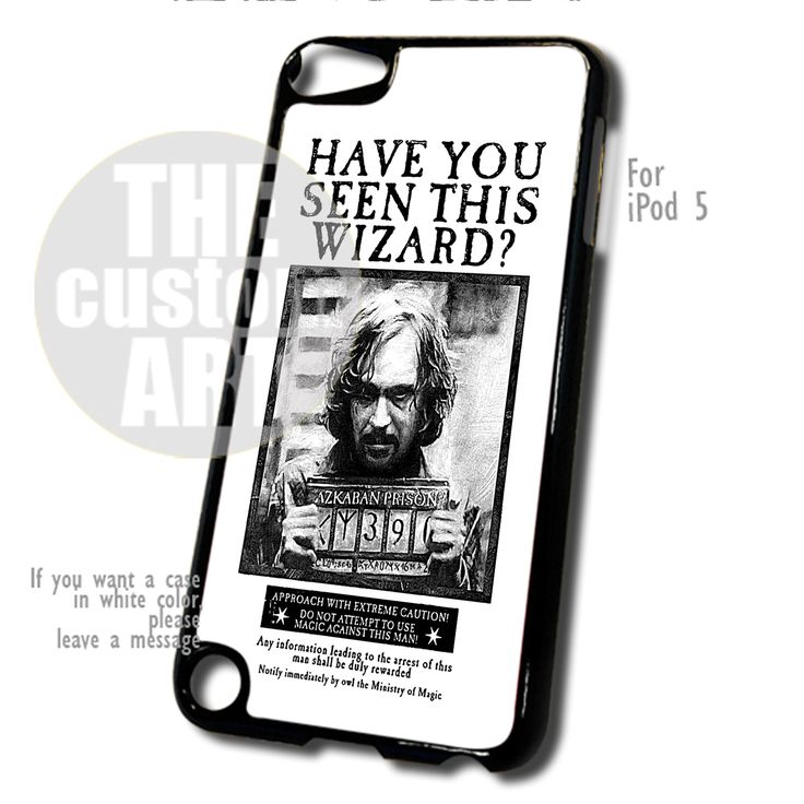 Sirius Black Wanted Poster case for iPod 5 | TheCustomArt - Accessories on Bonanza