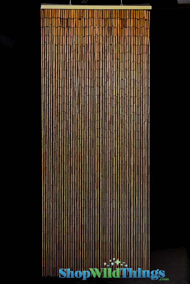 Painted bamboo curtains for doors - Door To Jayden S Dressing Area Plain Bamboo Beaded Curtain X 60 Strands