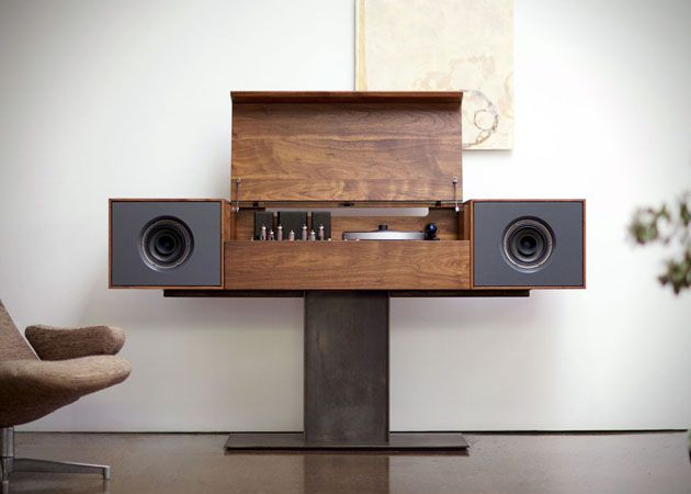 Mobili Hi Fi Design.Custom Cardboard Furnishings Man Cave Record Player