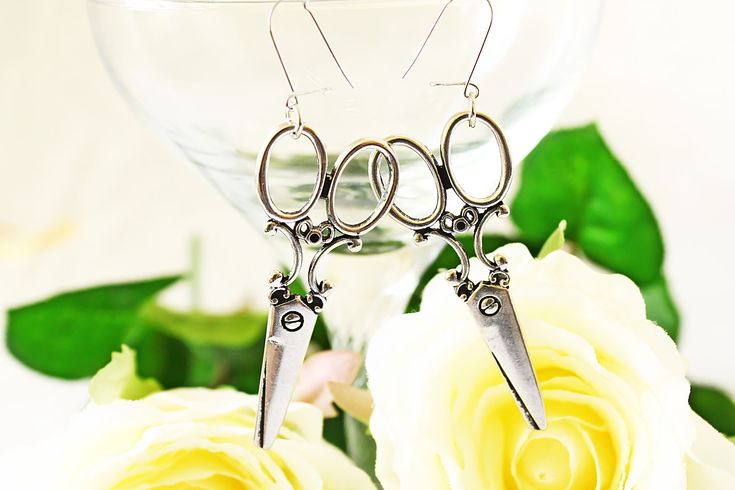 Jewelry Handmade Metal Jewelry Bohemian Jewelry Scissors Jewelry Scissors Gift Metal Earrings Scissors Earrings Modern Earrings by RoseValleyVilaga on Etsy