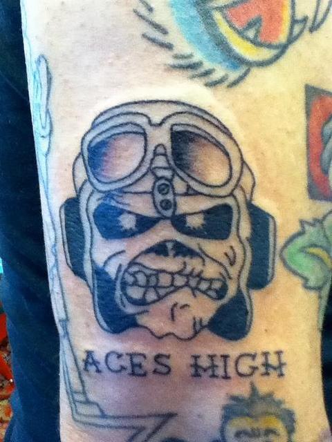 Iron maiden tattoo. Aces high | Tattoo | Pinterest ...