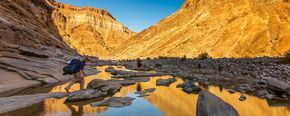 Your guide to hiking the Fish River Canyon in Namibia, including medical forms, advice on what to take, costs, booking information and maps.
