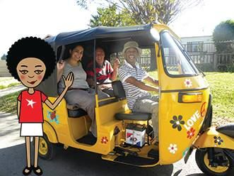 Hey hey, we're in Gauteng today! There's a lot to do here, I'm feeling excited. And tomorrow is Heritage Day too, woop! For starters, we checked into Lebo's Backpackers in Soweto - I am staying in a real township, how cool is that! Check me about to go on a tuk tuk tour of Soweto. #zibu #heritagemonth #southafrica Moja Heritage Collection  http://tinyurl.com/m69cbzc