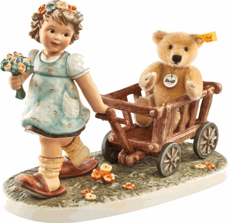 MI Hummel Tag Along Teddy Hummel Figurine 2333