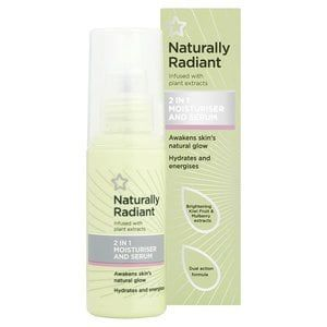 Superdrug Naturally Radiant 2 in 1 Moisturiser & Serum