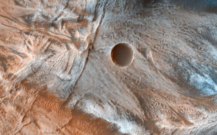 Viscous, lobate flow features are commonly found on Mars