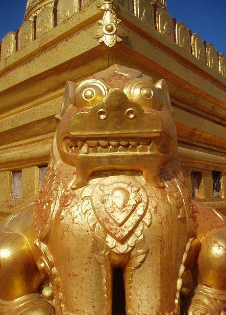 Golden Chinthe, Shwezigon Temple by Aidan McRae Thomson, via Flickr
