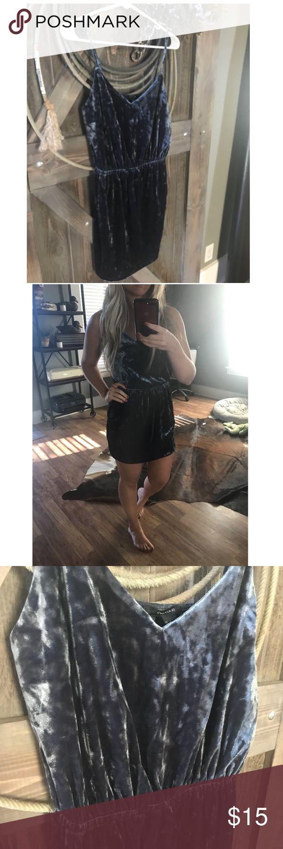Grey velvet dress. Never worn. Fits like a medium. Grey. Velvet. Sooooo cute. Forever 21 Dresses Mini