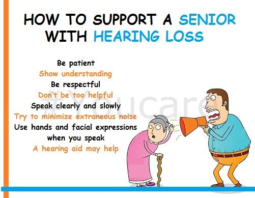 How to support a senior with hearing loss. Here are some tips to help you with elderly care!!!  https://youcare.in/care/find/attendants/31 #seniorcareinpanchkula #elderlycareinchandigarh #caregiversforeldersinchandigarh #seniorcaretips #elderlycaretips