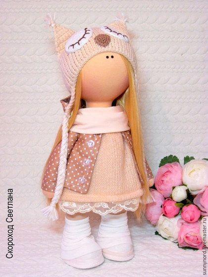 Человечки ручной работы. Сова.Текстильная куколка.. Светлана.. Ярмарка Мастеров. Шапка сова, ручная работа, подарок на день рождения