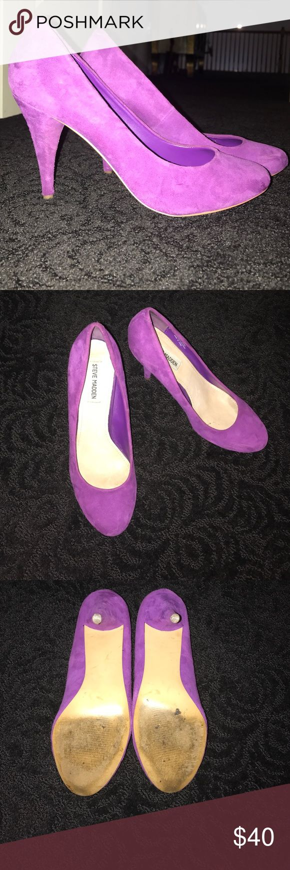 Steve Madden Pumps Purple pumps with 3inch heel. Only worn 1 time. Love the color and style! Style: Unitty Steve Madden Shoes Heels