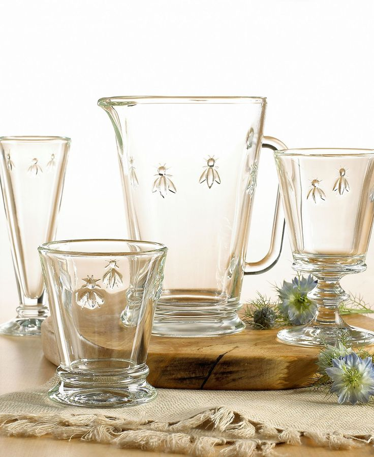French Home La Rochere Napoleonic Bee Glassware Collection