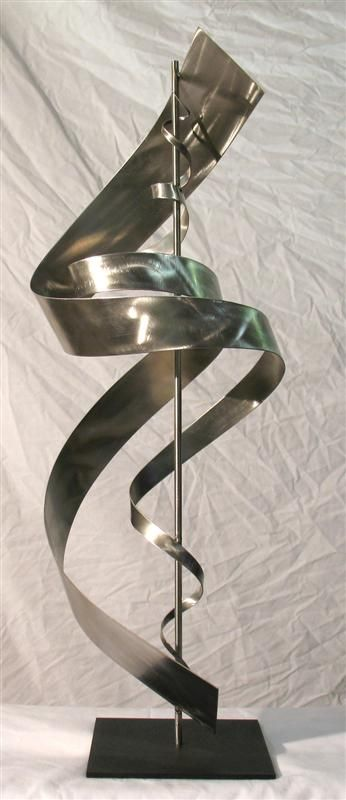 Abstract metal sculpture - stainless steel table top